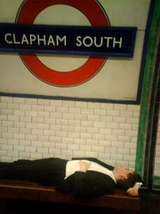 A commuter takes some time out.